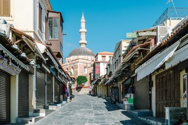 Rhodes Shopping Area